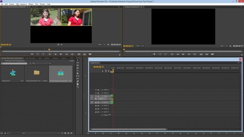 Multi-cam in Premiere Pro CS6.