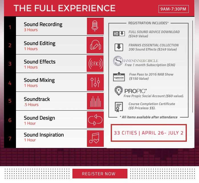 Sony Announces Sound Design Tour With Frank Serafine